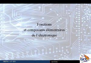 Fonctions et composants lmentaires de llectronique EREN 1