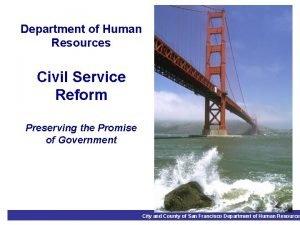 Department of Human Resources Civil Service Reform Preserving