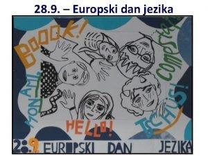 28 9 Europski dan jezika Europski dan jezika