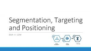 Segmentation Targeting and Positioning BBA III SEM Segmentation