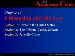 American Civics HOLT Chapter 16 Citizenship and the
