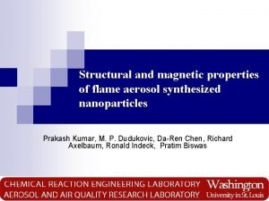 Structural and magnetic properties of flame aerosol synthesized