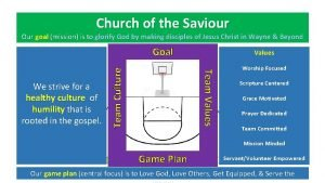Church of the Saviour Our goal mission is
