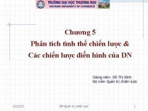 Chng 5 Phn tch tnh th chin lc