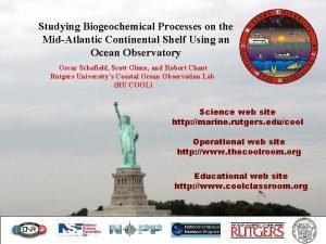 Studying Biogeochemical Processes on the MidAtlantic Continental Shelf