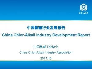 China ChlorAlkali Industry Development Report China ChlorAlkali Industry