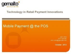 Technology in Retail Payment Innovations Mobile Payment the