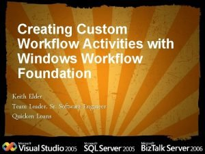 Creating Custom Workflow Activities with Windows Workflow Foundation