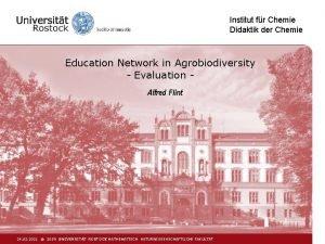 Institut fr Chemie Didaktik der Chemie Education Network