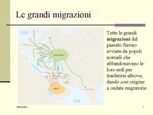 Le grandi migrazioni Tutte le grandi migrazioni del