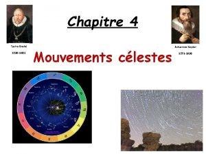 Chapitre 4 Tycho Brah 1546 1601 Mouvements clestes