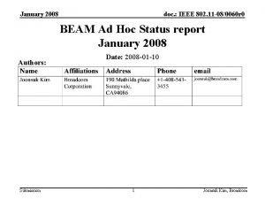 January 2008 doc IEEE 802 11 080060 r