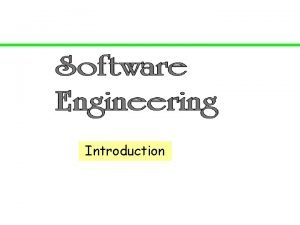 Introduction Introduction Software is Complex Complex complicated Complex