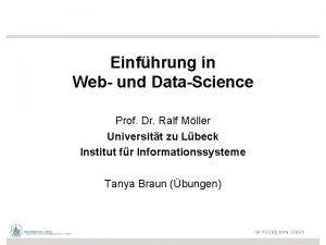 Einfhrung in Web und DataScience Prof Dr Ralf