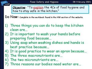Oasi Food Safety and Hygiene s a emy