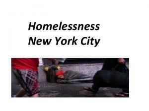 Homelessness New York City Facts New York City