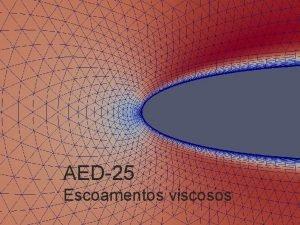 AED25 Escoamentos viscosos De Euler para NavierStokes o
