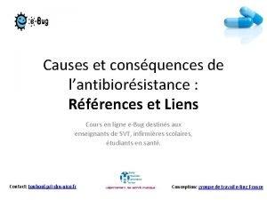 Causes et consquences de lantibiorsistance Rfrences et Liens