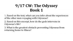 917 CW The Odyssey Book 1 1 Based
