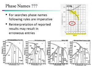 Phase Names For searches phase names following rules