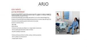 ARJO COLCHONES ALPHA RESPONSE El sistema Alpha RESPONSE