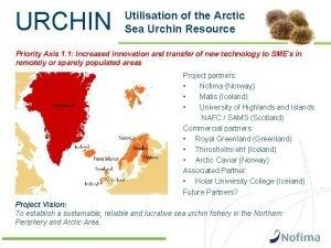 URCHIN Utilisation of the Arctic Sea Urchin Resource