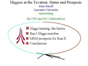 Higgses at the Tevatron Status and Prospects Peter