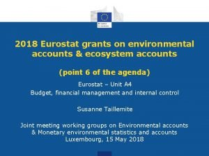 2018 Eurostat grants on environmental accounts ecosystem accounts