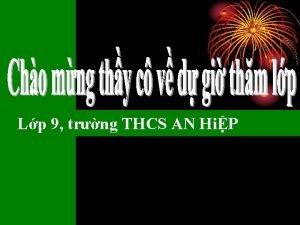 Lp 9 trng THCS AN HiP Kim tra