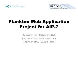Plankton Web Application Project for AIP7 By Lawrence