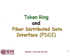 Token Ring and Fiber Distributed Data Interface FDDI