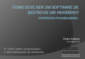 Pedro Arsnio arseniopisa utl pt II Taller sobre