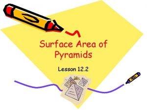 Surface Area of Pyramids Lesson 12 2 Pyramids