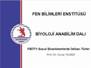 FEN BLMLER ENSTTS BYOLOJ ANABLM DALI FB 771