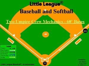 League Little League Baseball and Softball Two Umpire