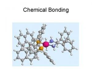 Chemical Bonding Bonding Atoms of different elements bond
