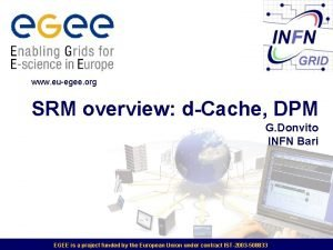 www euegee org SRM overview dCache DPM G