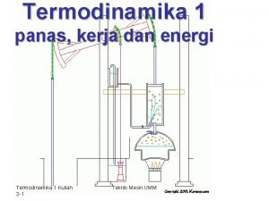 Termodinamika 1 panas kerja dan energi Termodinamika 1