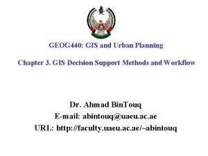 GEOG 440 GIS and Urban Planning Chapter 3