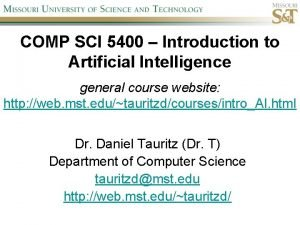 COMP SCI 5400 Introduction to Artificial Intelligence general