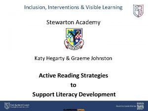 Inclusion Interventions Visible Learning Stewarton Academy Katy Hegarty