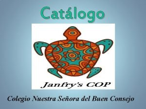 Catlogo Colegio Nuestra Seora del Buen Consejo ndice