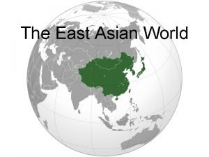 The East Asian World Rise of Ming Dynasty