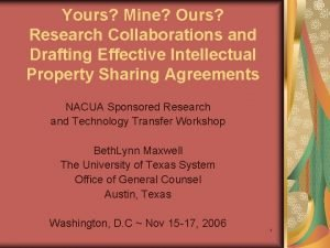 Yours Mine Ours Research Collaborations and Drafting Effective