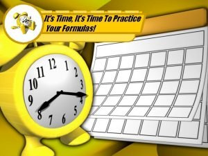 Its Time Its Time To Practice Your Formulas