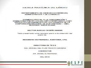AGENDA 1 Aspectos Generales de la Corporacin Nacional