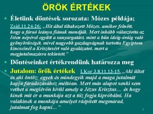 RK RTKEK letnk dntsek sorozata Mzes pldja Zsid