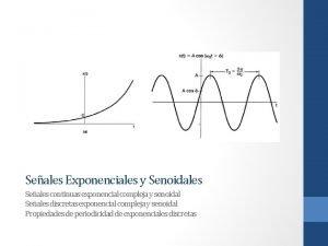 Seales Exponenciales y Senoidales Seales continuas exponencial compleja