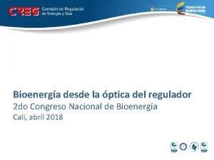 Bioenerga desde la ptica del regulador 2 do