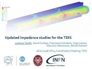 Updated impedance studies for the TDIS Lorenzo Teofili